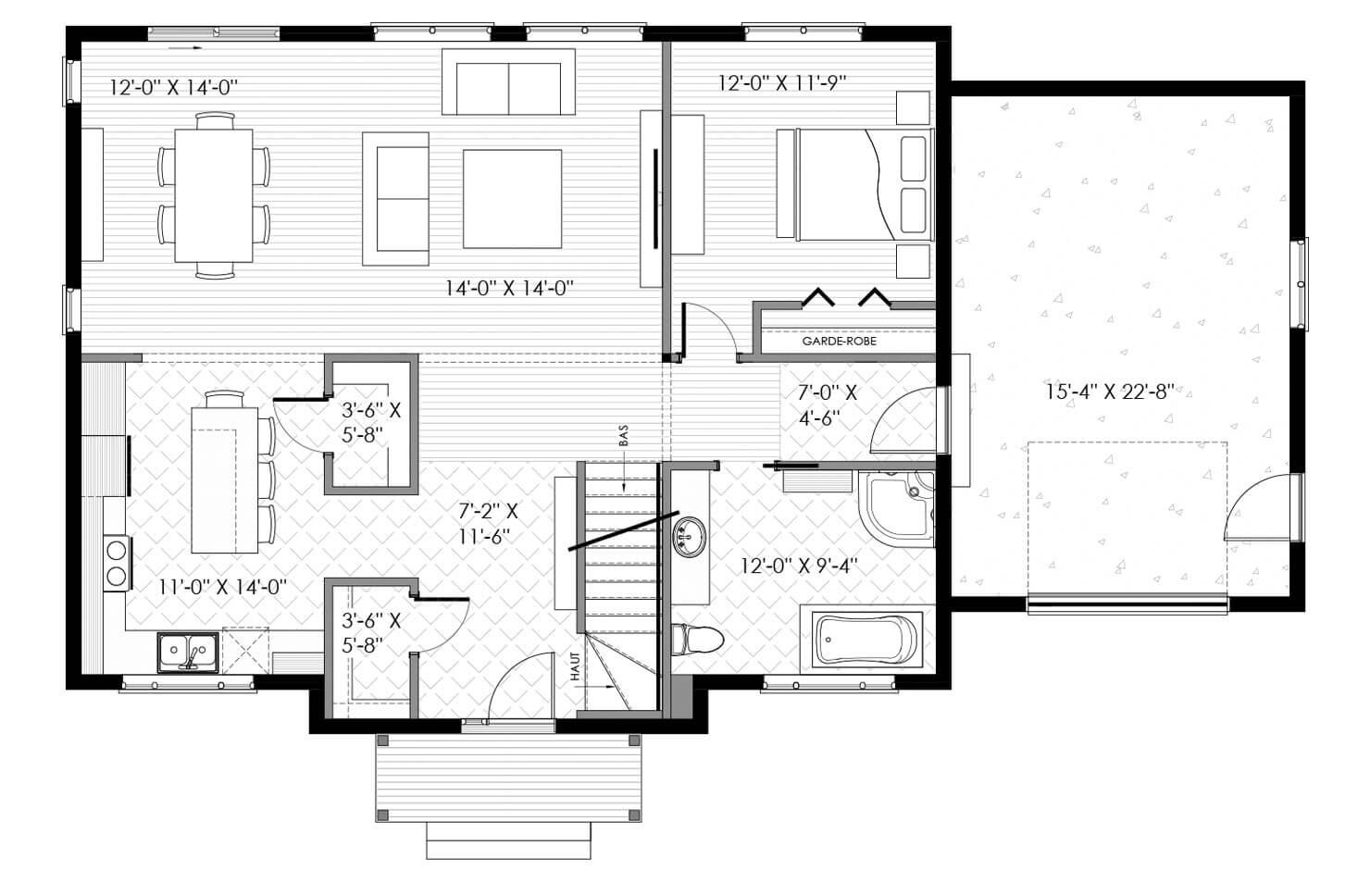 Plan modèle Bellevue
