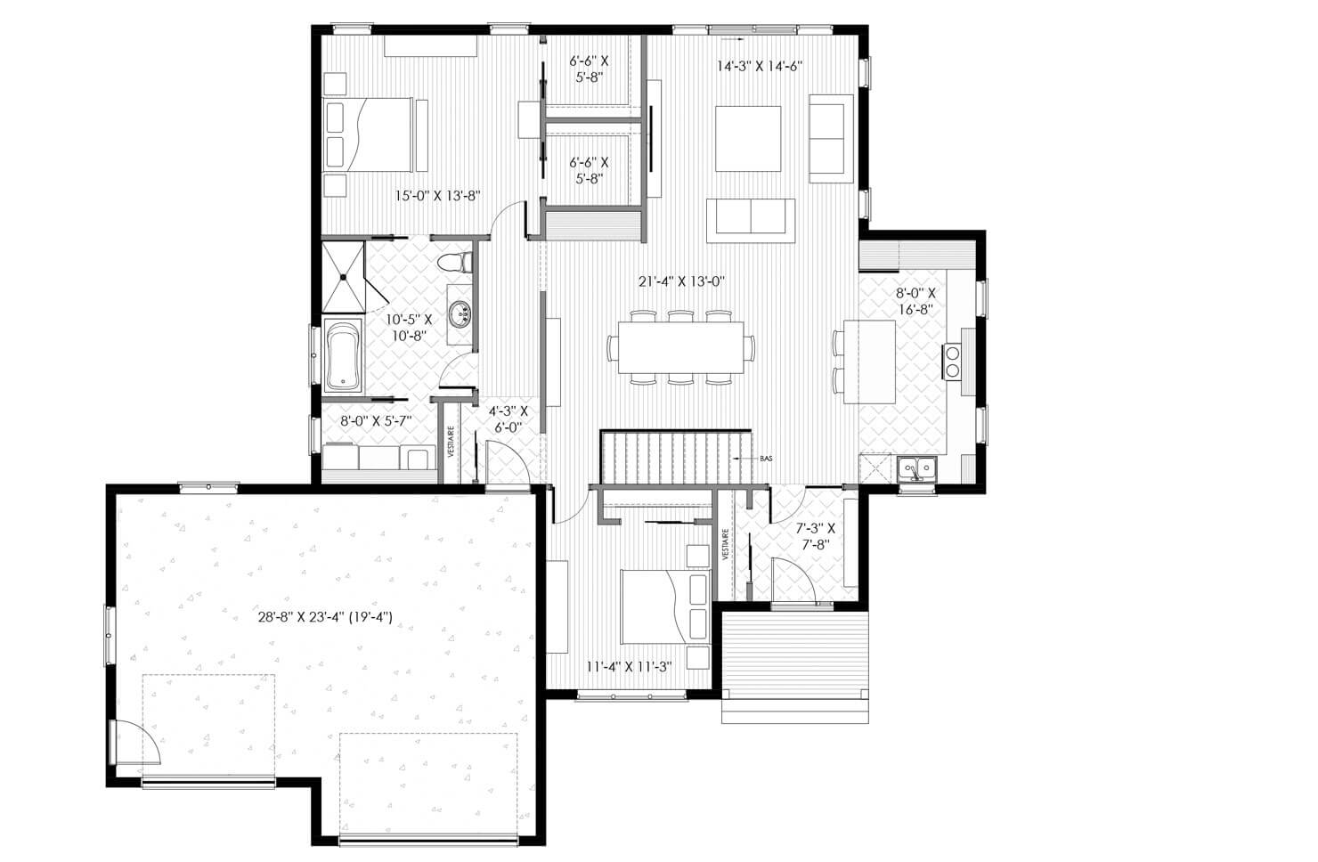Plan modèle Bonaventure