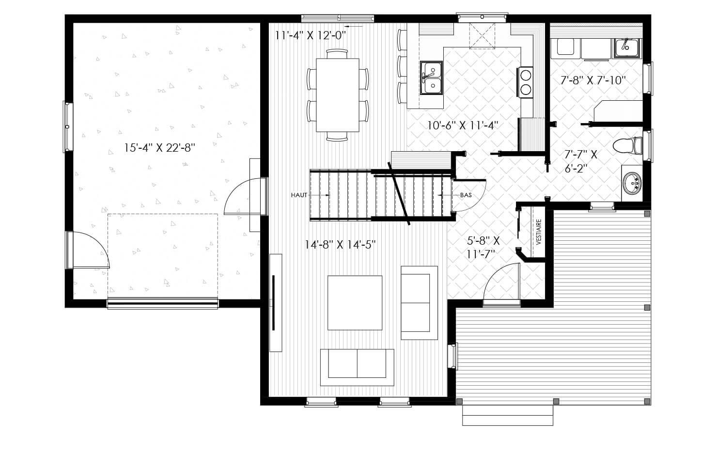 Plan modèle La tour