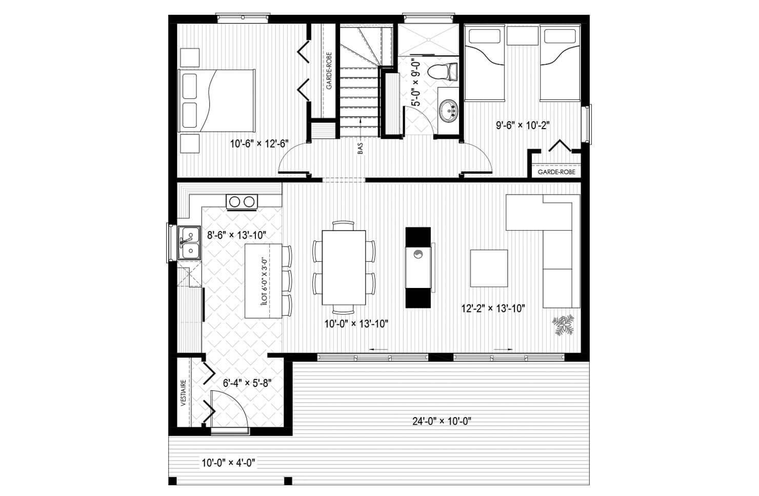 Plan modèle Taïga