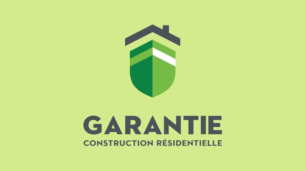 Logo de la certification Garantie construction résidentielle sur un fond vert